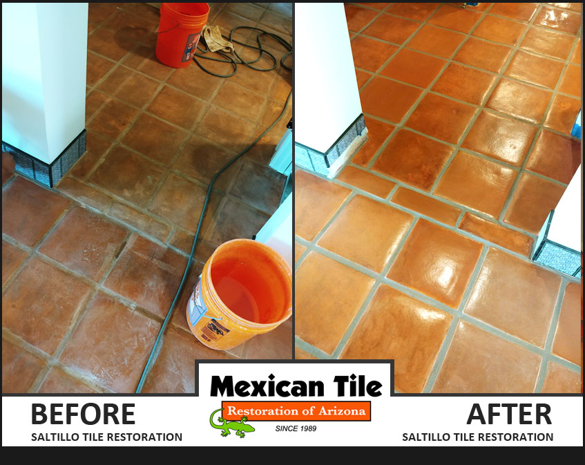 Saltillo Tile Restoration Before & After